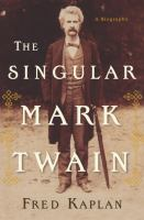 book cover for the Singular Mark Twain