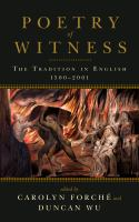 Poetry of Witness cover art