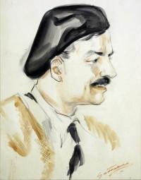 Portrait of Hemingway by Antonio Gattorno
